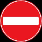 Roadsign-no-entry
